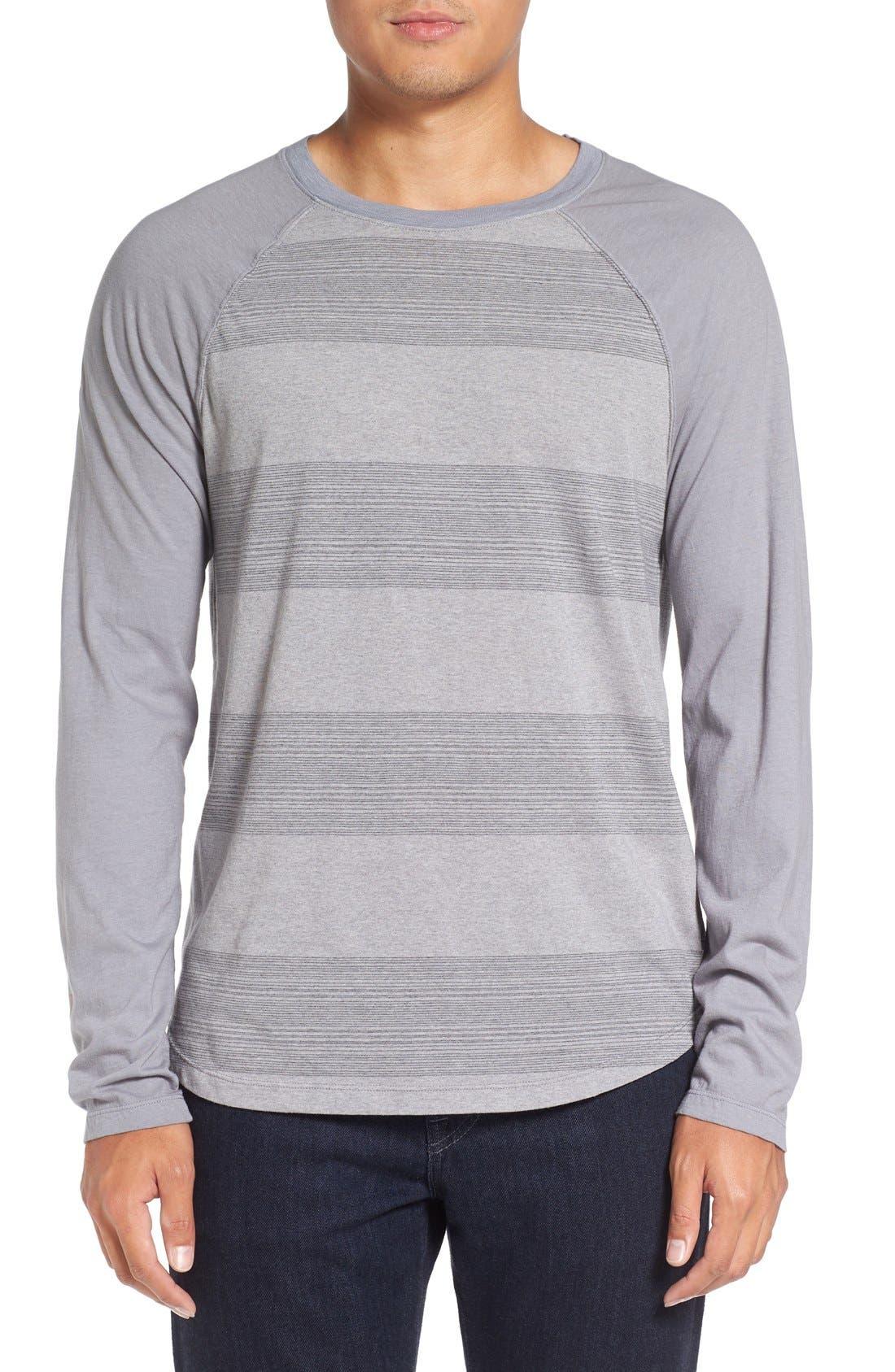 Michael Stars Variegated Stripe Long Sleeve T-Shirt