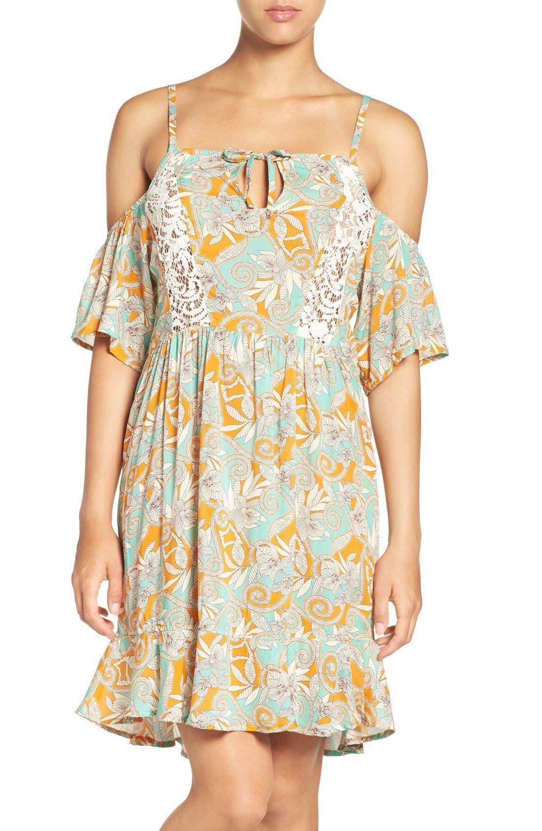 Main Image - Maaji 'Botanic Sandy' Cold-Shoulder Cover-Up Dress
