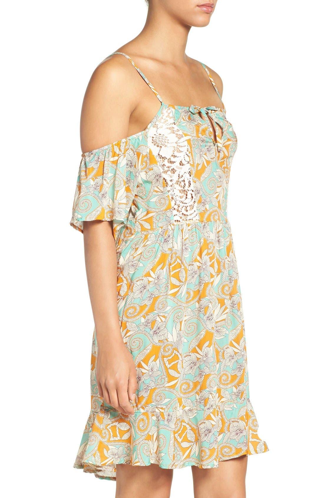 Alternate Image 3  - Maaji 'Botanic Sandy' Cold-Shoulder Cover-Up Dress