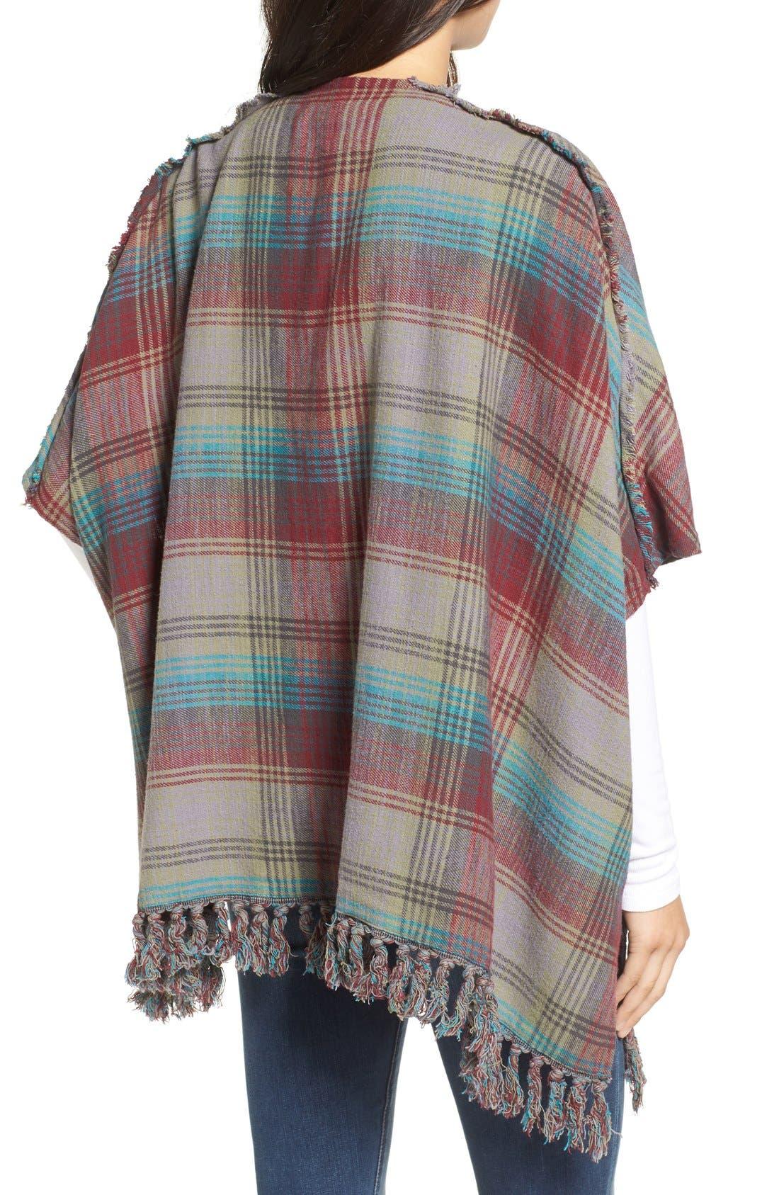 Alternate Image 2  - Billabong 'Forever Fall' Plaid Kimono Cardigan