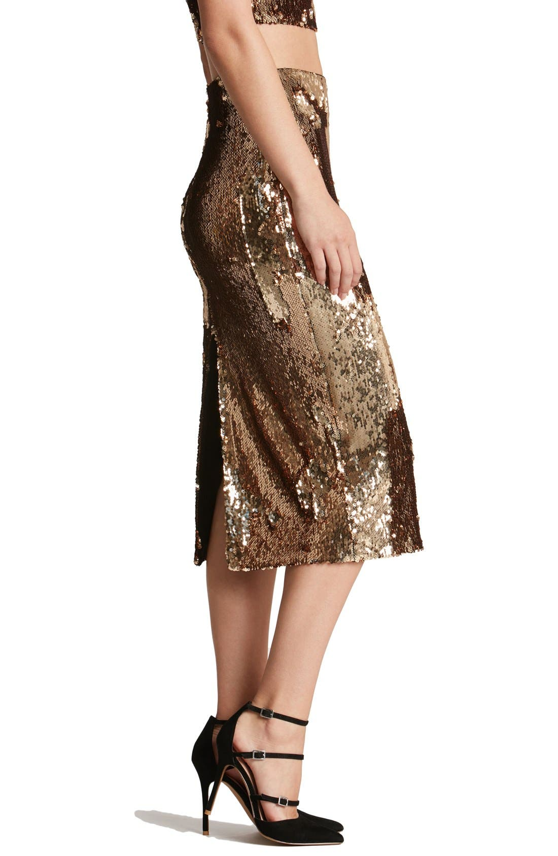 Alternate Image 3  - Dress the Population 'Sasha' Sequin Midi Skirt