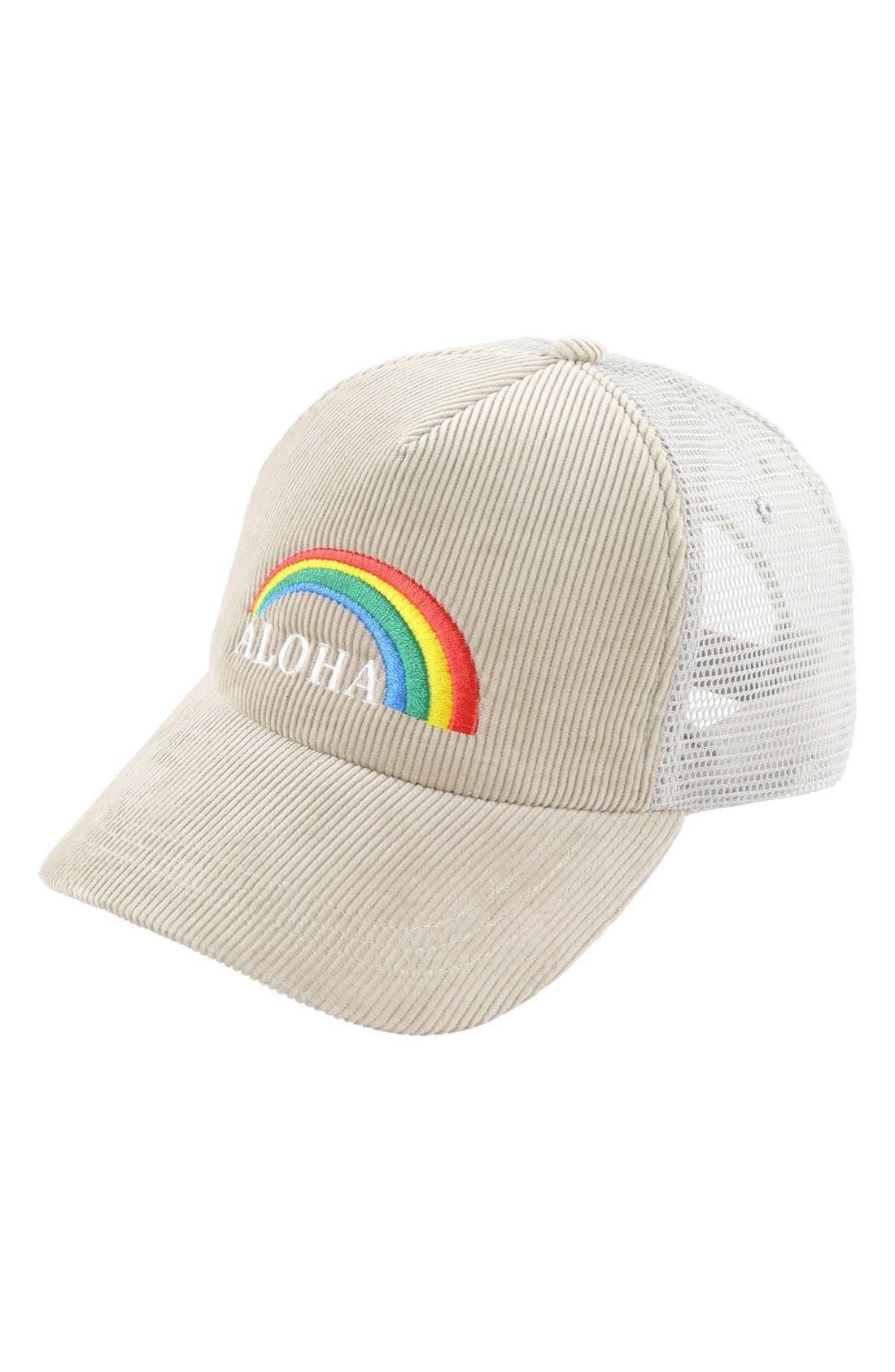 Alternate Image 1 Selected - O'Neill 'Aloha' Corduroy Trucker Hat