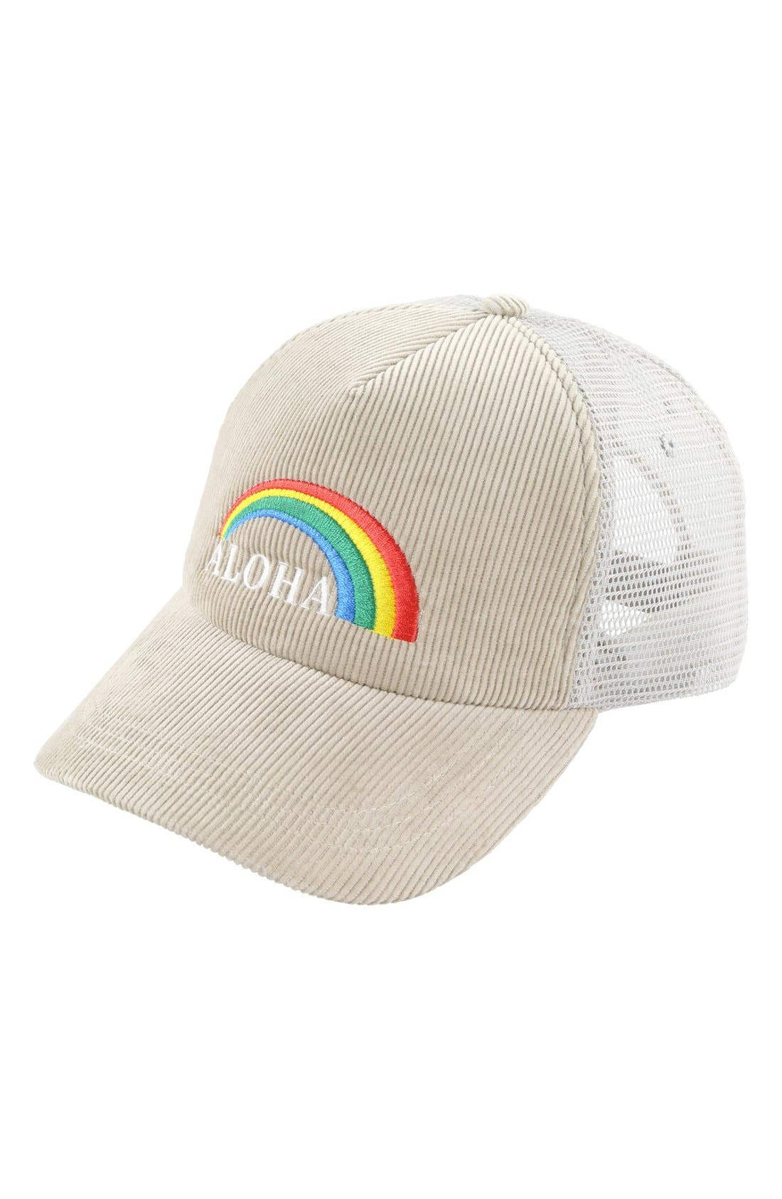 Main Image - O'Neill 'Aloha' Corduroy Trucker Hat