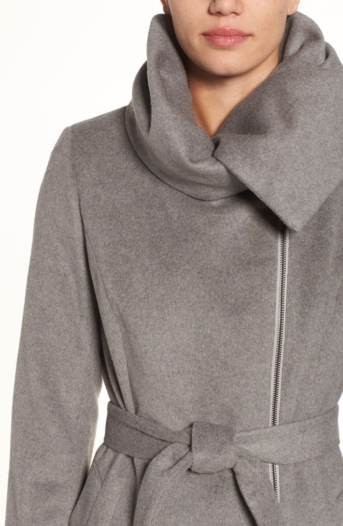 Alternate Image 4  - Cole Haan Signature Belted Asymmetrical Wool Blend Coat