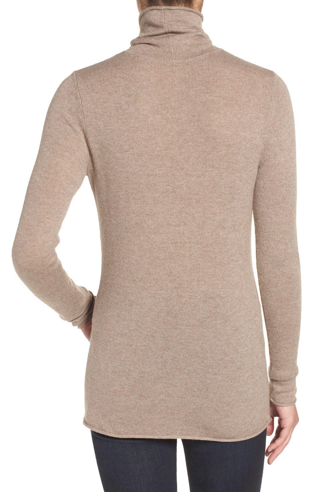 Alternate Image 2  - Halogen® Wool & Cashmere Funnel Neck Sweater (Regular & Petite)