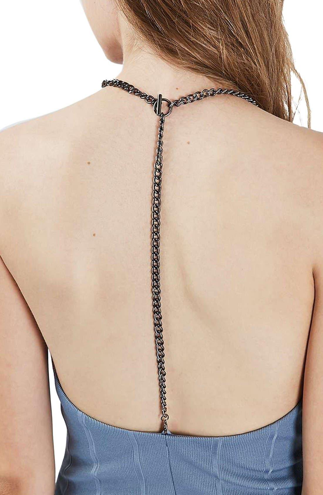 Alternate Image 5  - Topshop Chain Strap Bandage Body-Con Dress