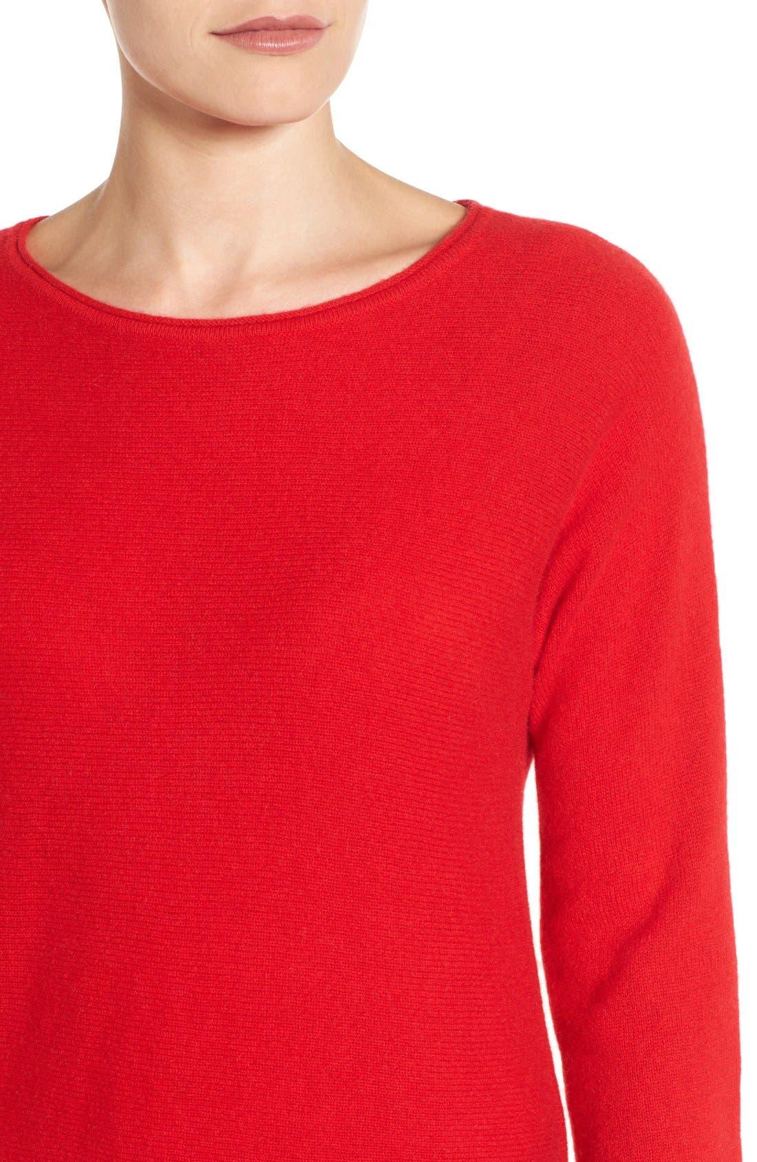 Alternate Image 4  - Halogen® High/Low Wool & Cashmere Tunic Sweater (Regular & Petite)