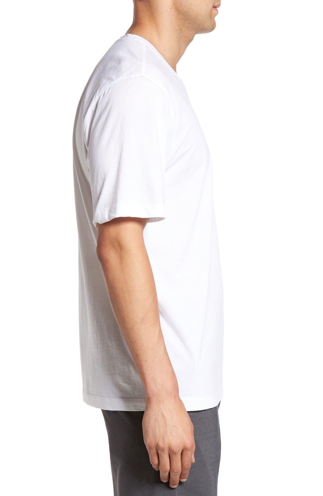 Alternate Image 3  - Cutter & Buck 'Sida' V-Neck T-Shirt (Big & Tall)