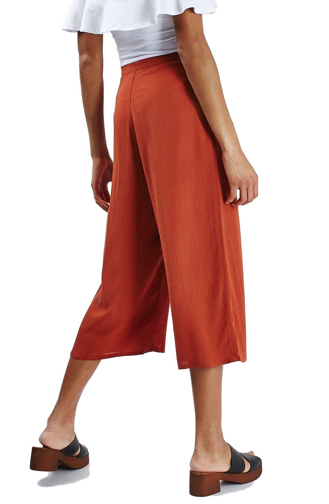 Alternate Image 3  - Topshop Crinkled Crop Wide Leg Trousers