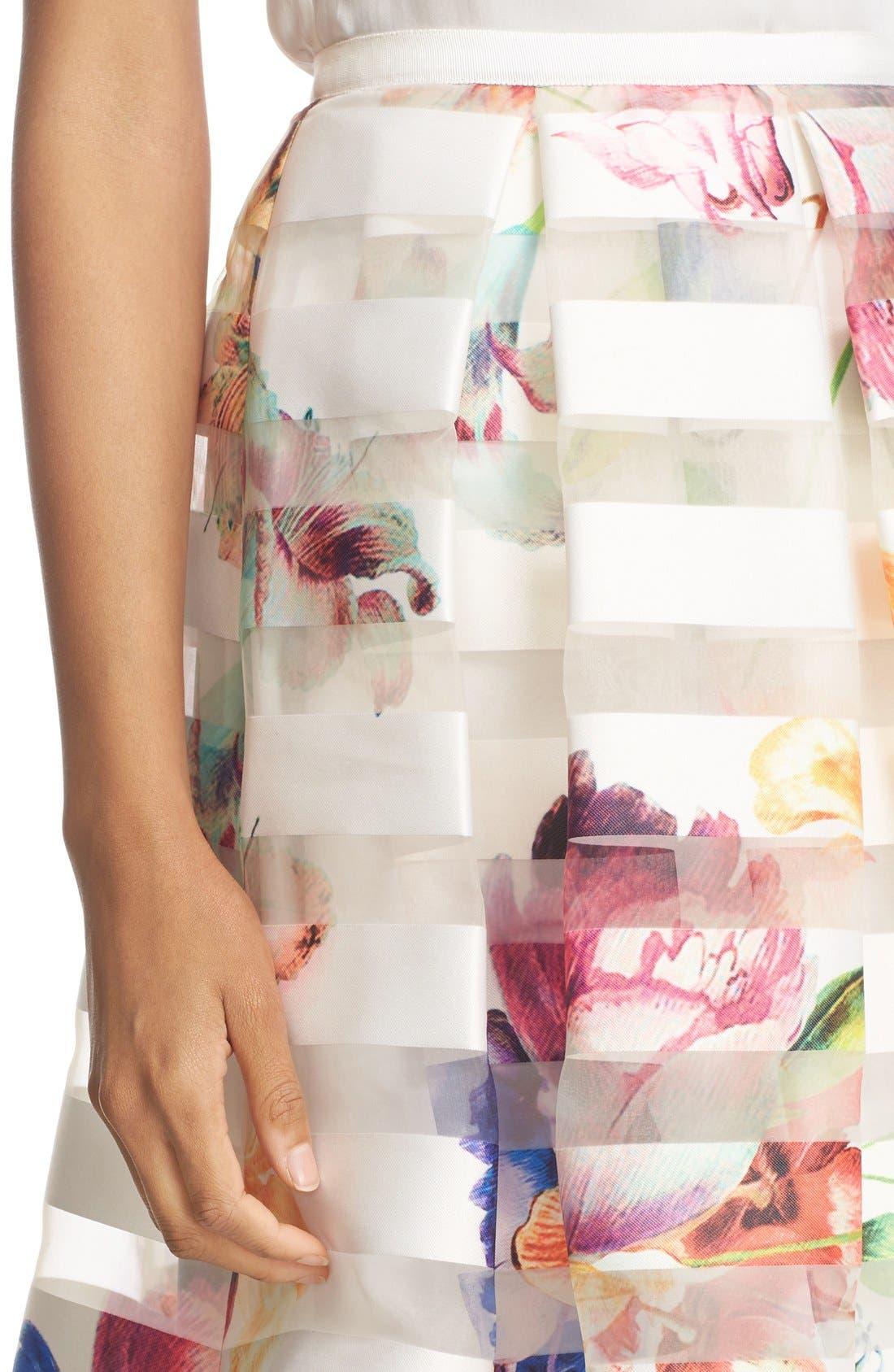 Alternate Image 4  - Ted Baker London 'Hoona' Burnout Stripe Pleated Skirt