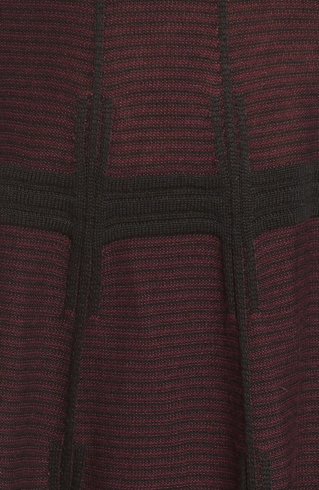 Alternate Image 6  - Ivanka Trump Plaid Sweater Knit Fit & Flare Dress