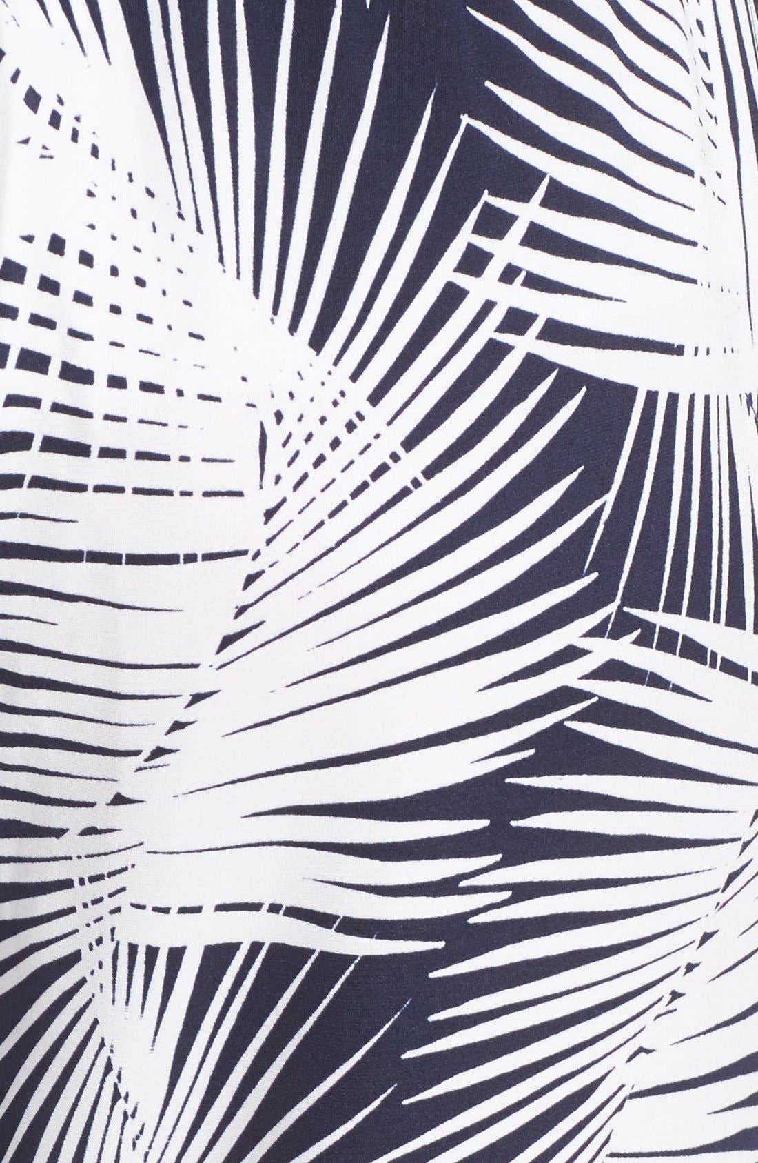 Alternate Image 4  - St. John Sport Collection Palm Print Stretch Silk Pants
