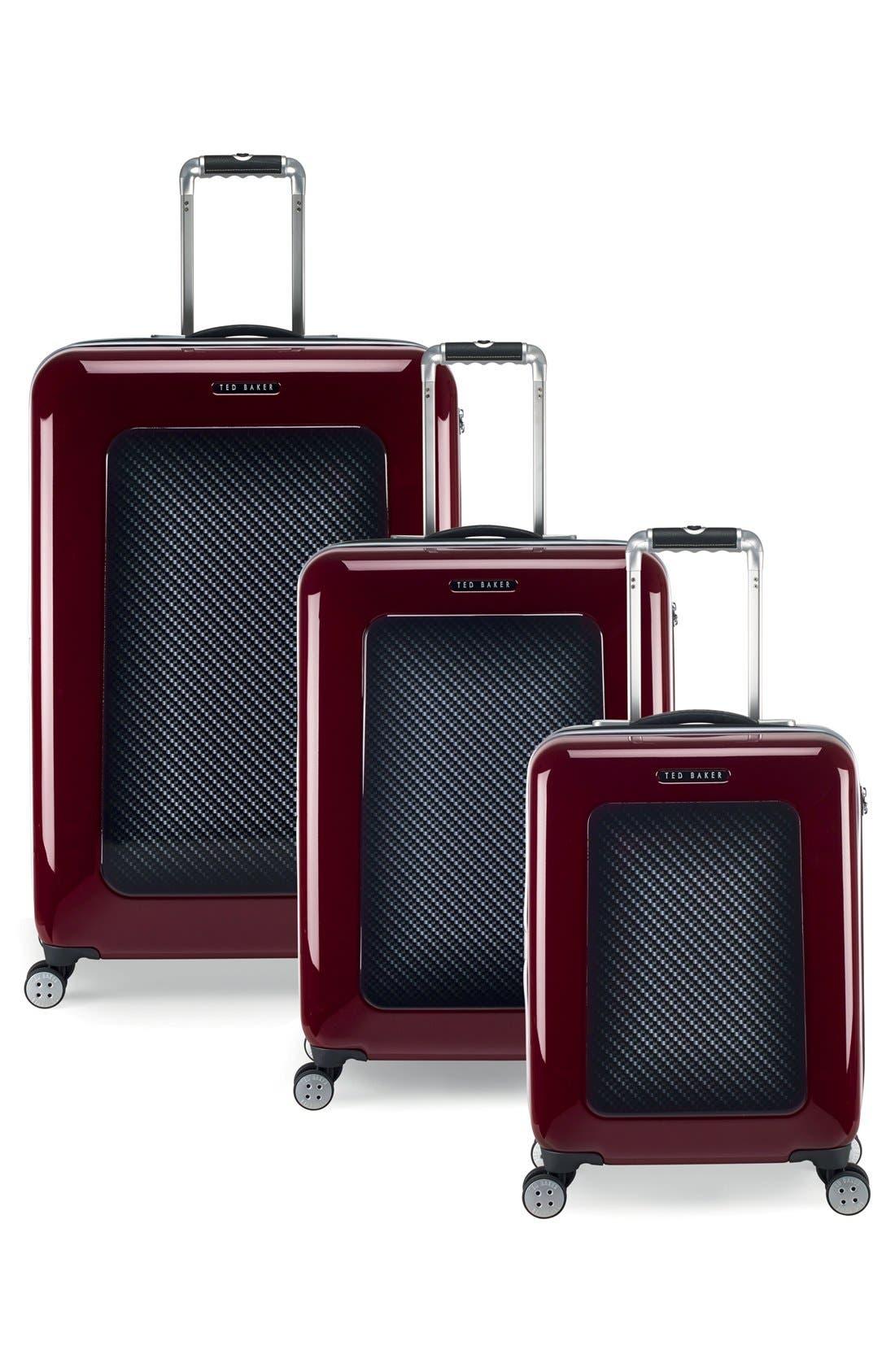 Alternate Image 7  - Ted Baker London 'Large Burgundy' Four Wheel Suitcase (31 Inch)