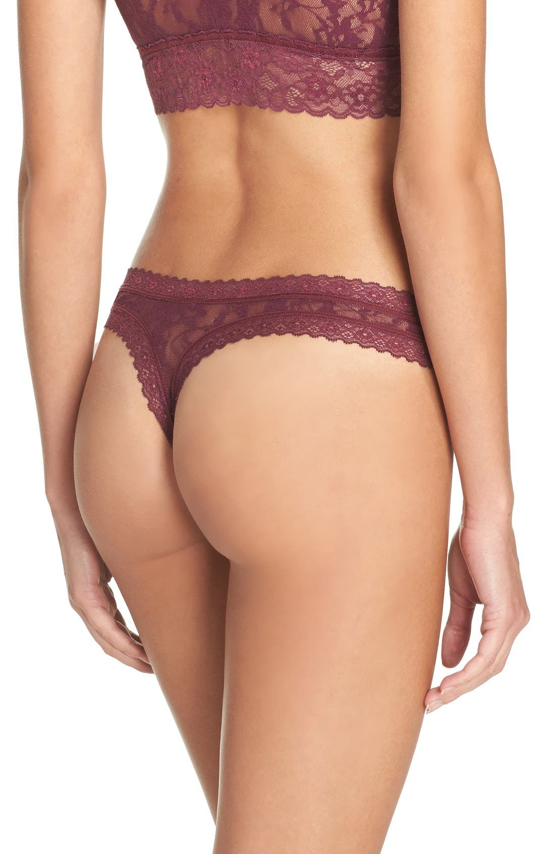 Alternate Image 2  - DKNY 'Signature Lace' Thong
