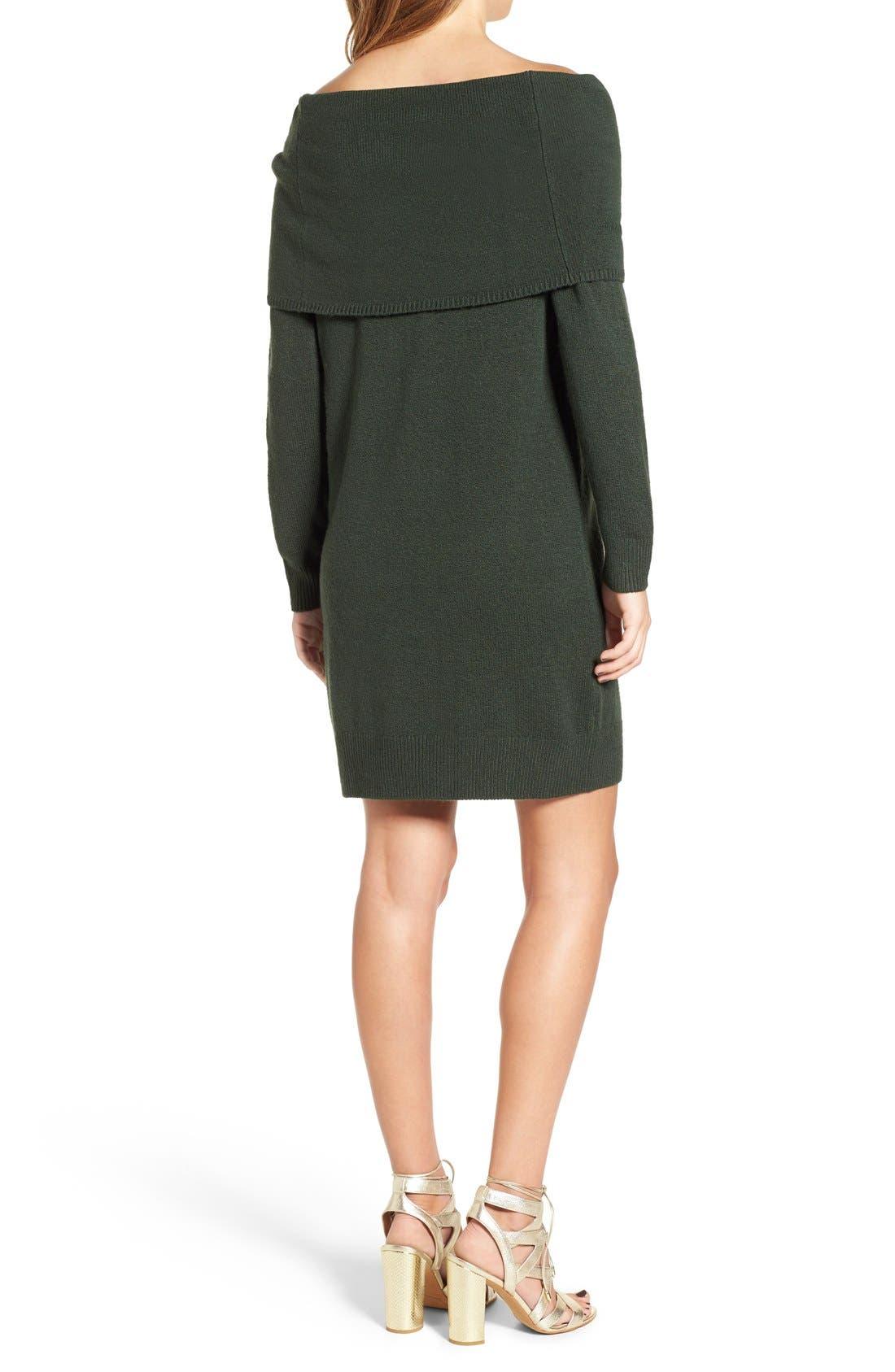 Alternate Image 2  - BP. Off the Shoulder Sweater Dress