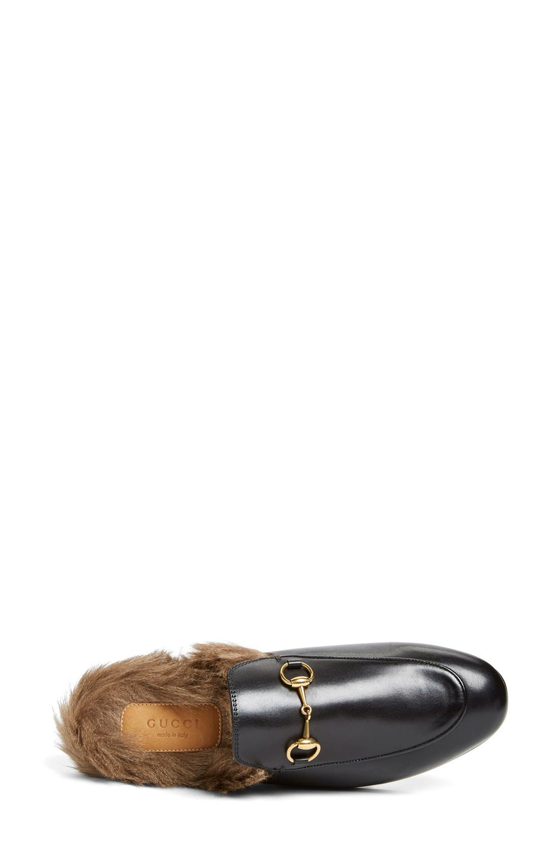 Alternate Image 3  - Gucci Princetown Genuine Shearling Loafer Mule (Women)
