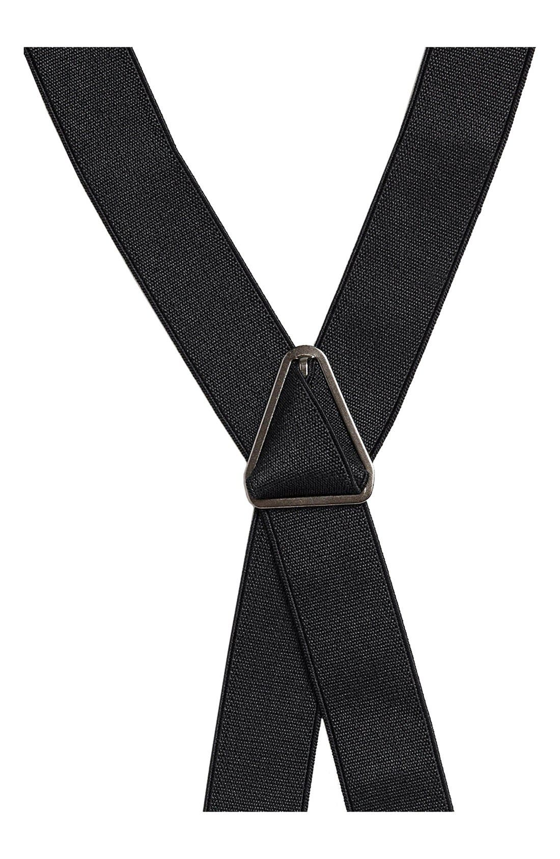 Alternate Image 3  - Topman Black Skinny Suspenders