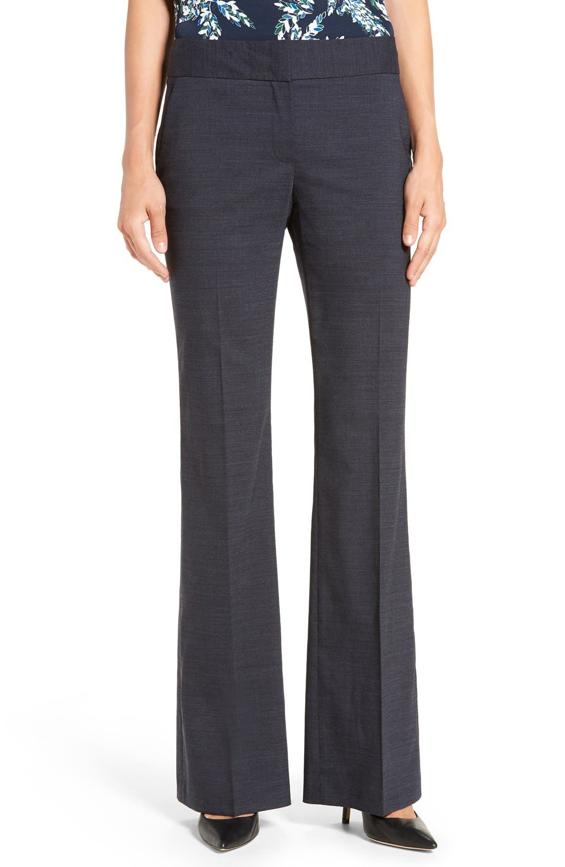 Alternate Image 1 Selected - Classiques Entier® 'Sienna' Flare Leg Stretch Wool Suit Pants (Regular & Petite)