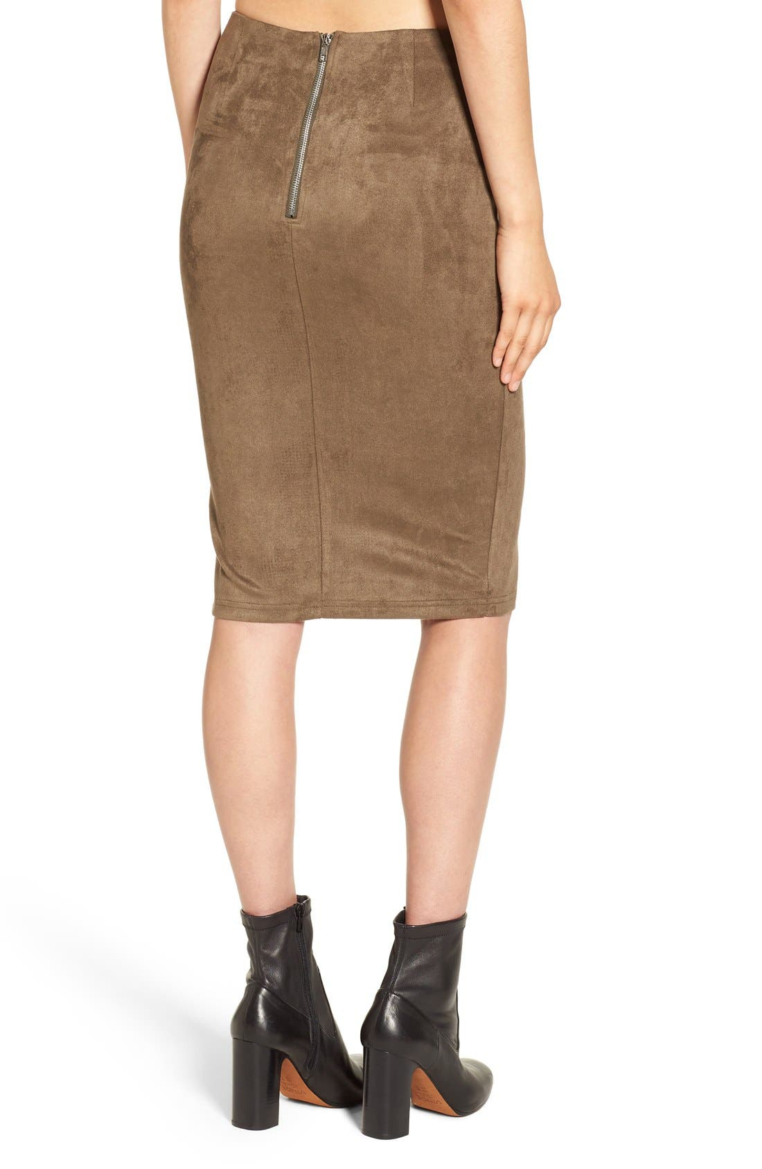 Alternate Image 4  - Missguided Faux Suede Skirt