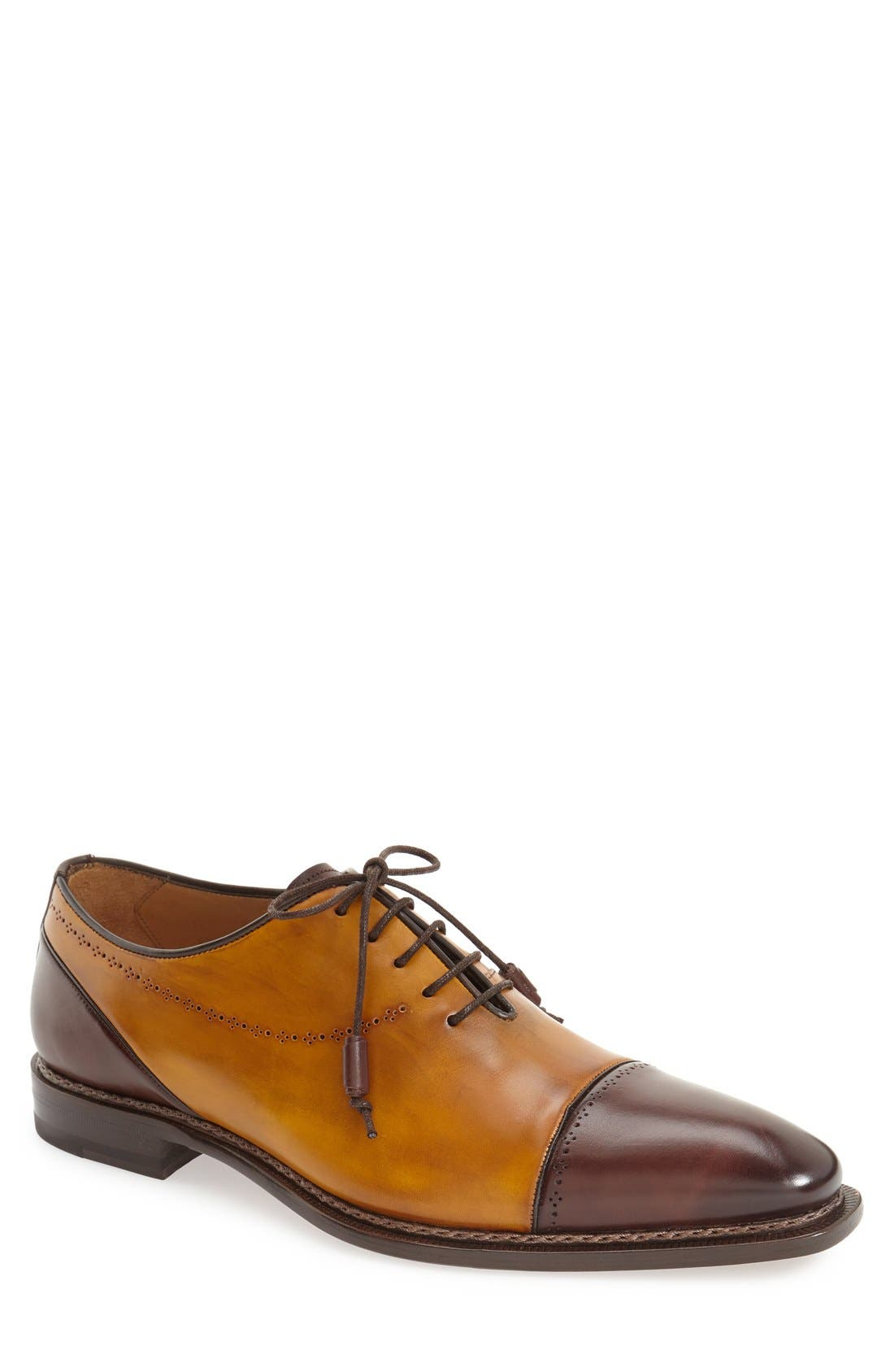 MEZLAN 'Antico' Cap Toe Oxford