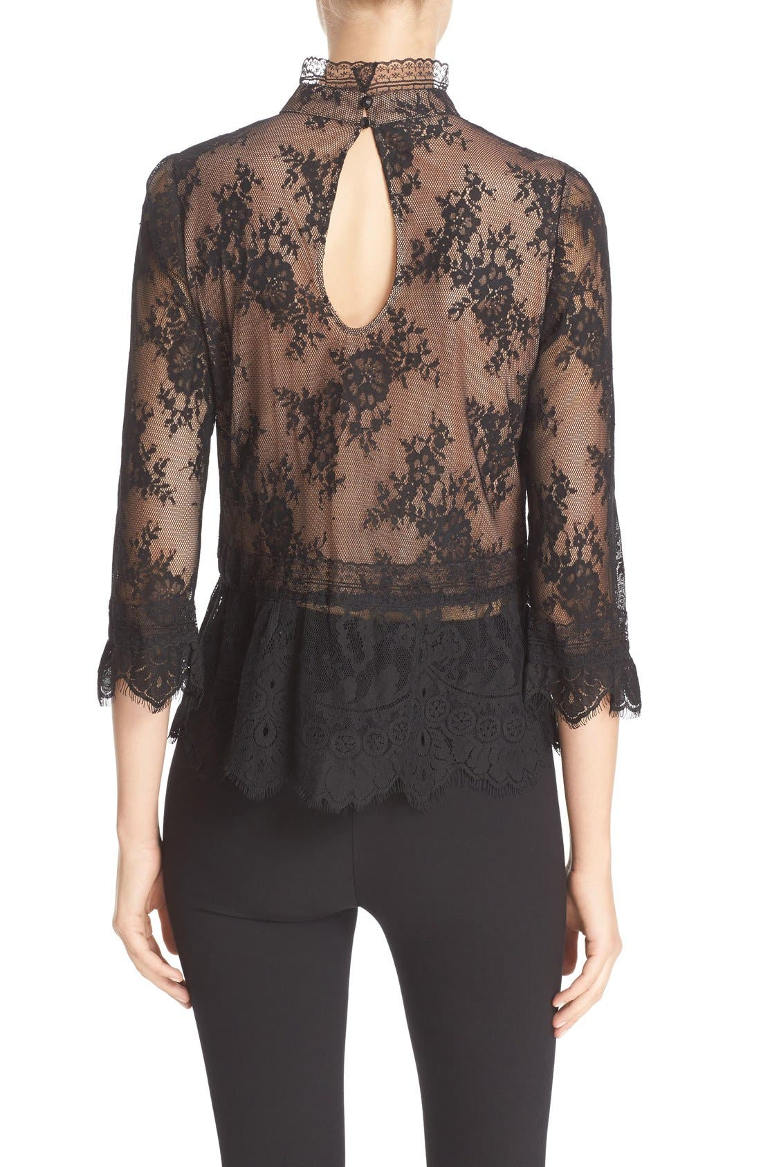 Alternate Image 2  - Tracy Reese Chantilly Lace Victorian Blouse