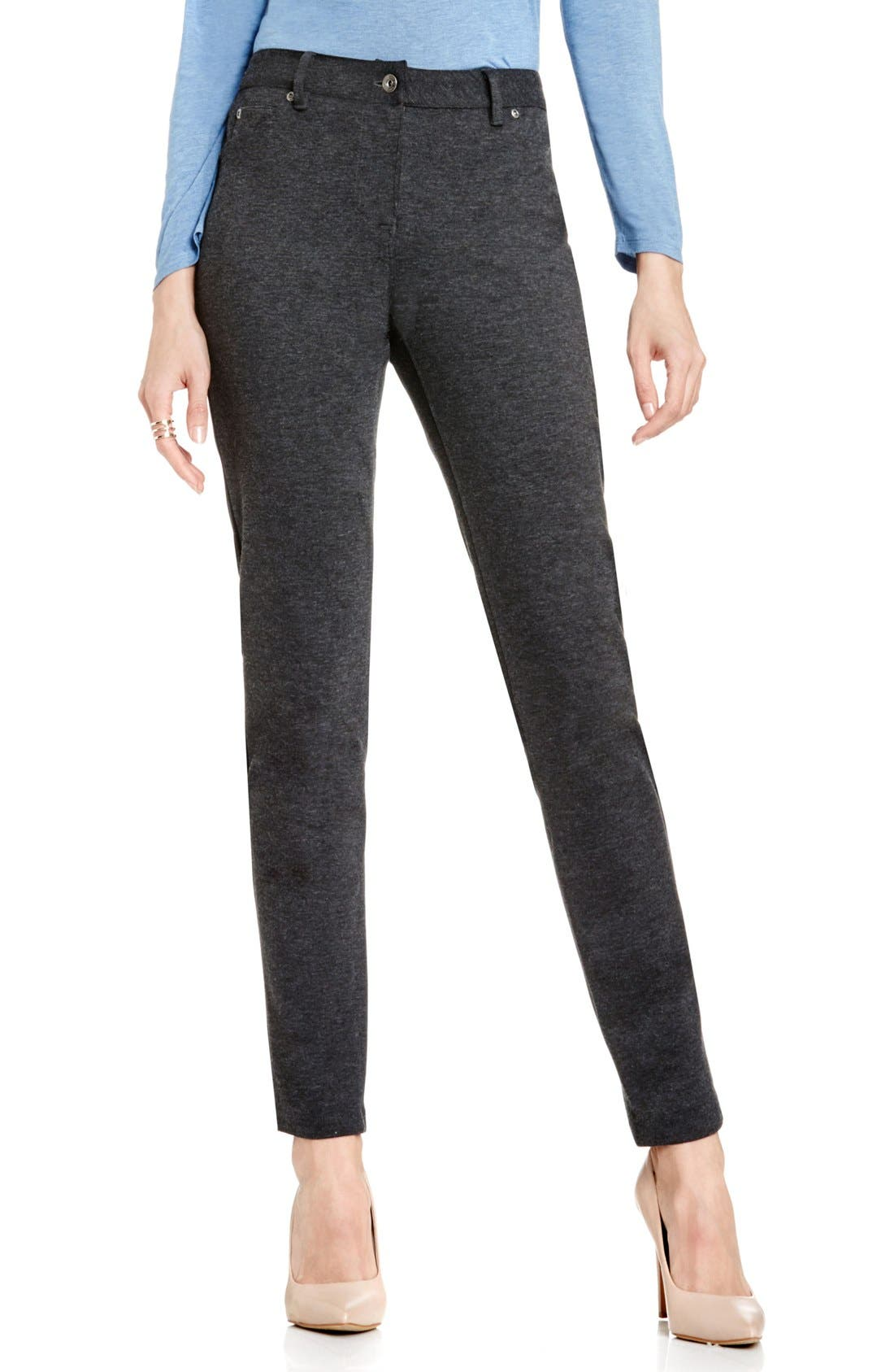Main Image - Two by Vince Camuto Skinny Ponte Pants (Petite)