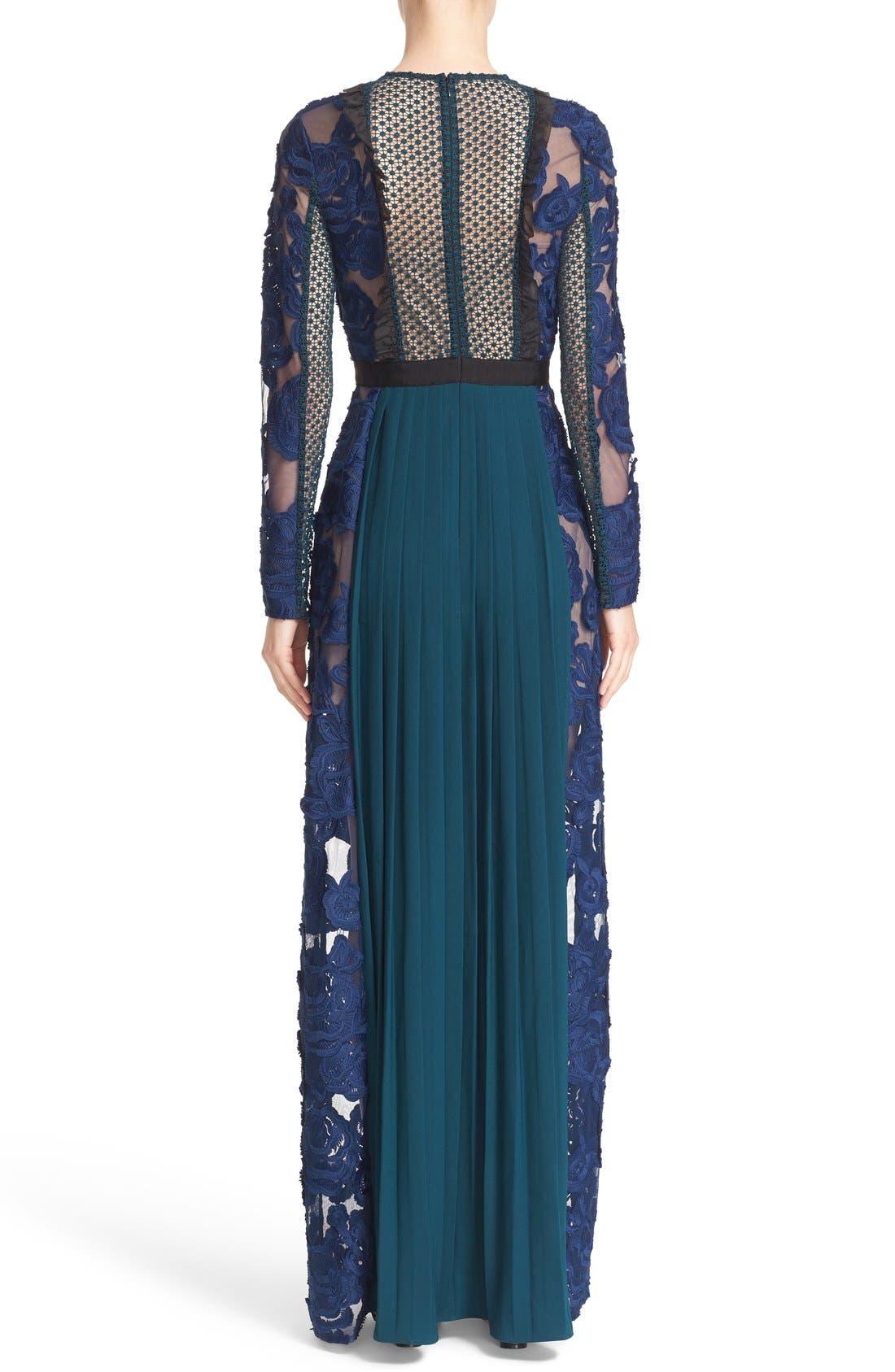 Alternate Image 2  - Self-Portrait 'Thea' Lace & Crepe Maxi Dress
