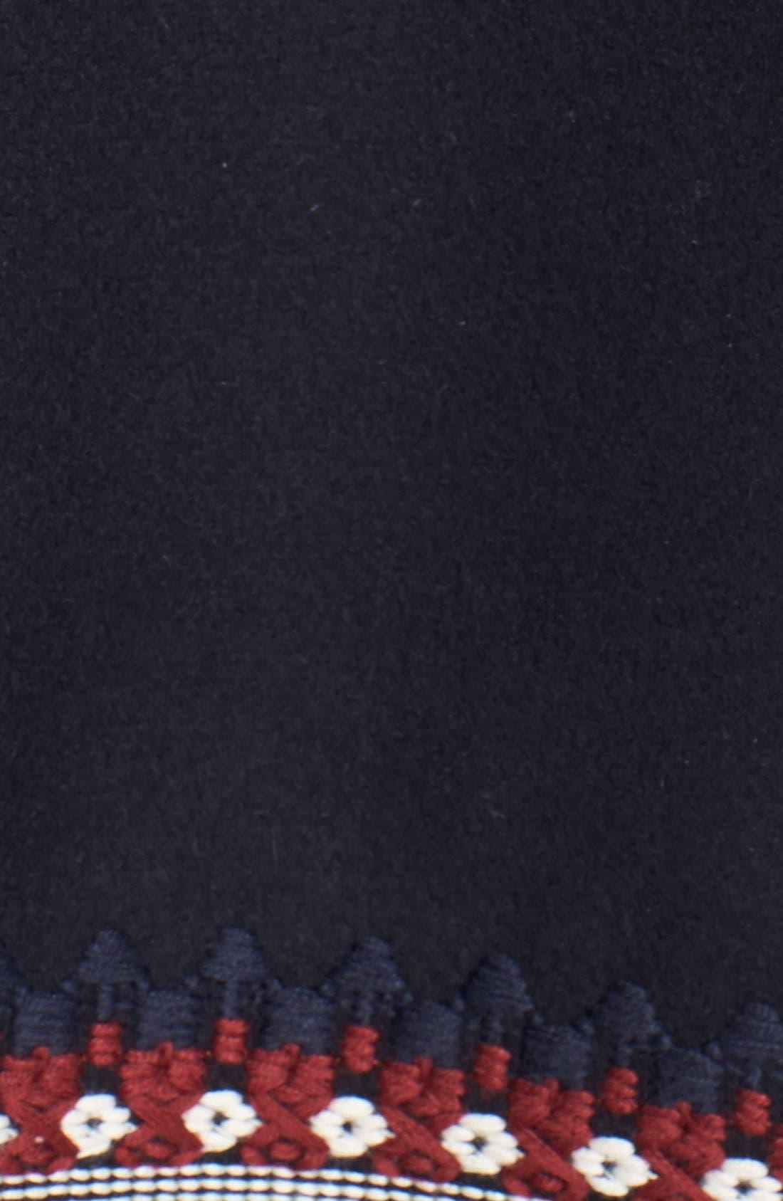 Alternate Image 5  - RED Valentino Toggle Coat with Genuine Coyote Fur Trim