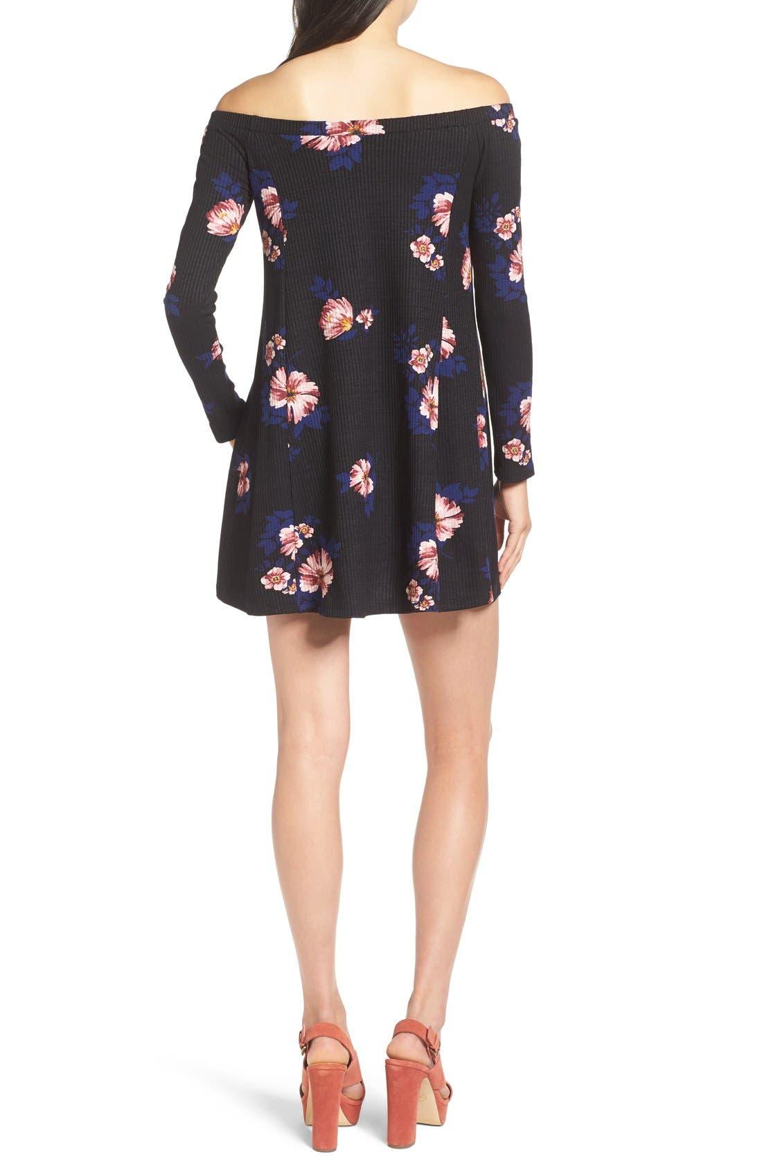 Alternate Image 2  - Lush Off the Shoulder Floral Print Dress