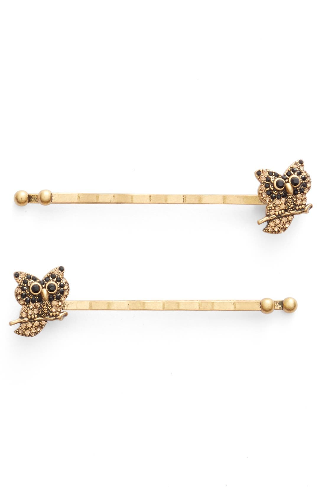 Main Image - MARC JACOBS 'Owl' Bobby Pins (Set of 2)