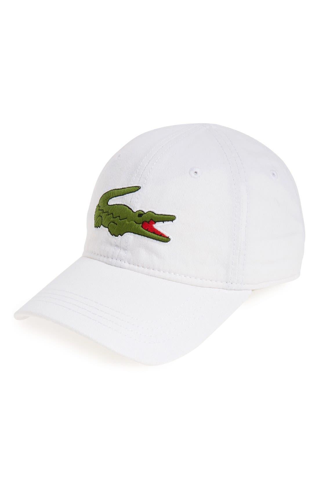Main Image - Lacoste 'Big Croc' Logo Embroidered Cap