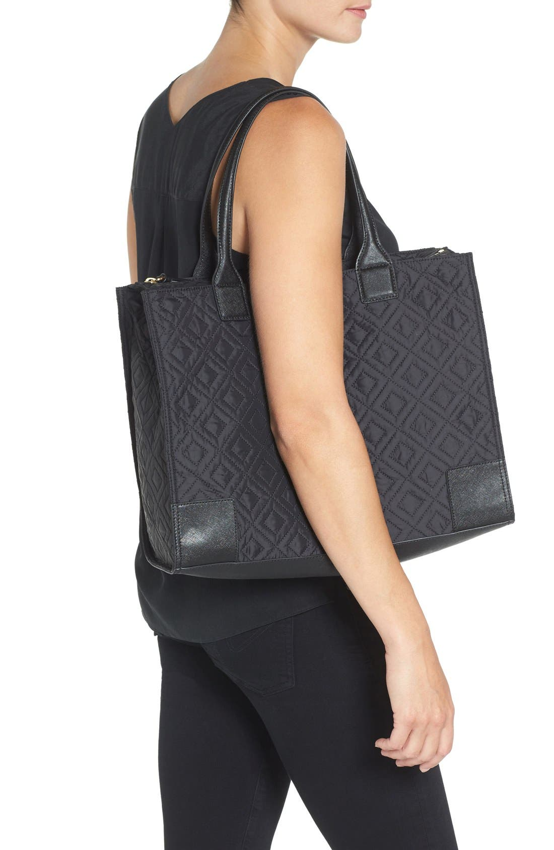 Alternate Image 2  - Tory Burch 'Ella' Packable Quilted Nylon Tote