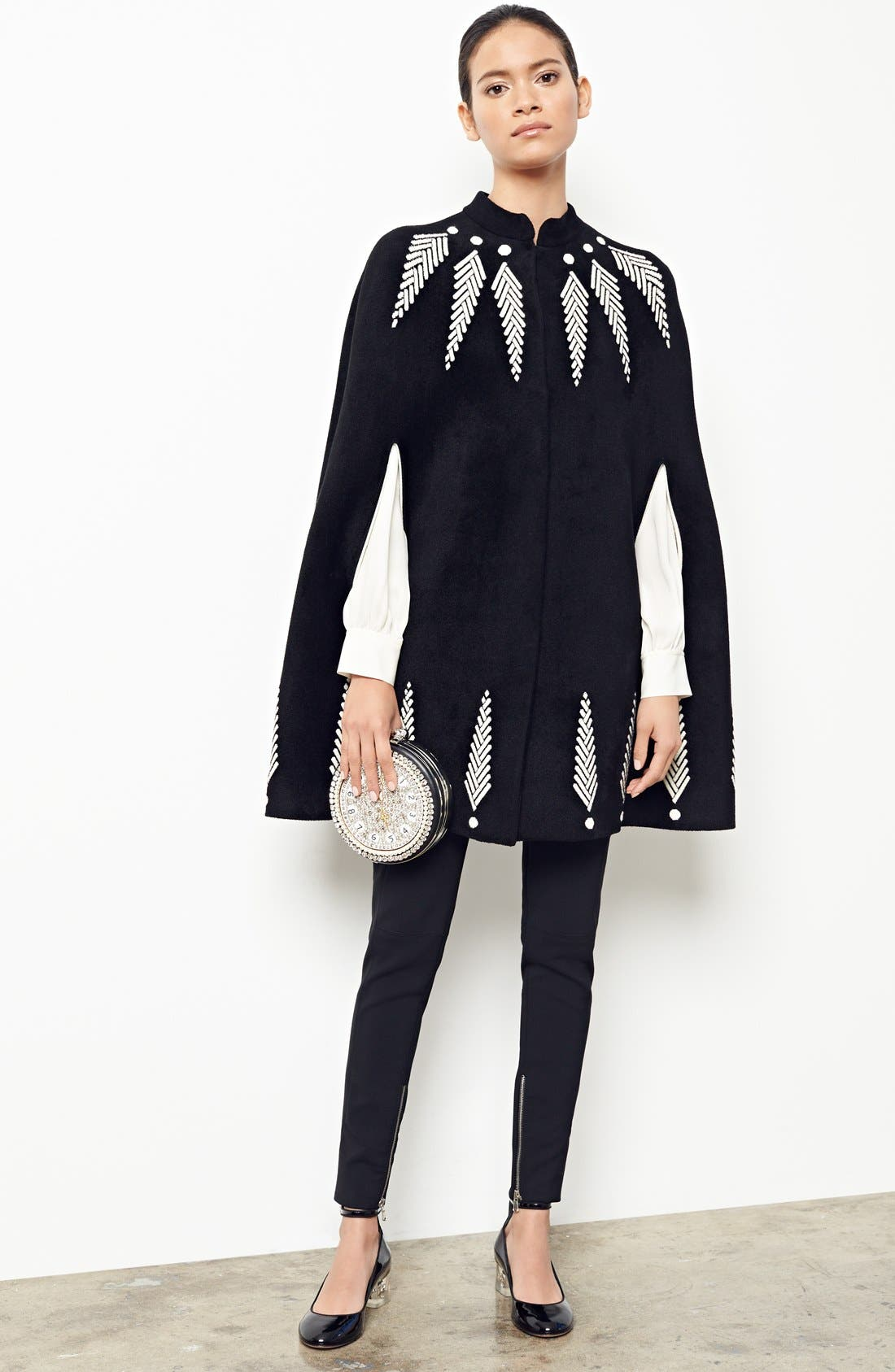 Alternate Image 7  - Alexander McQueen Feather Knit Cape
