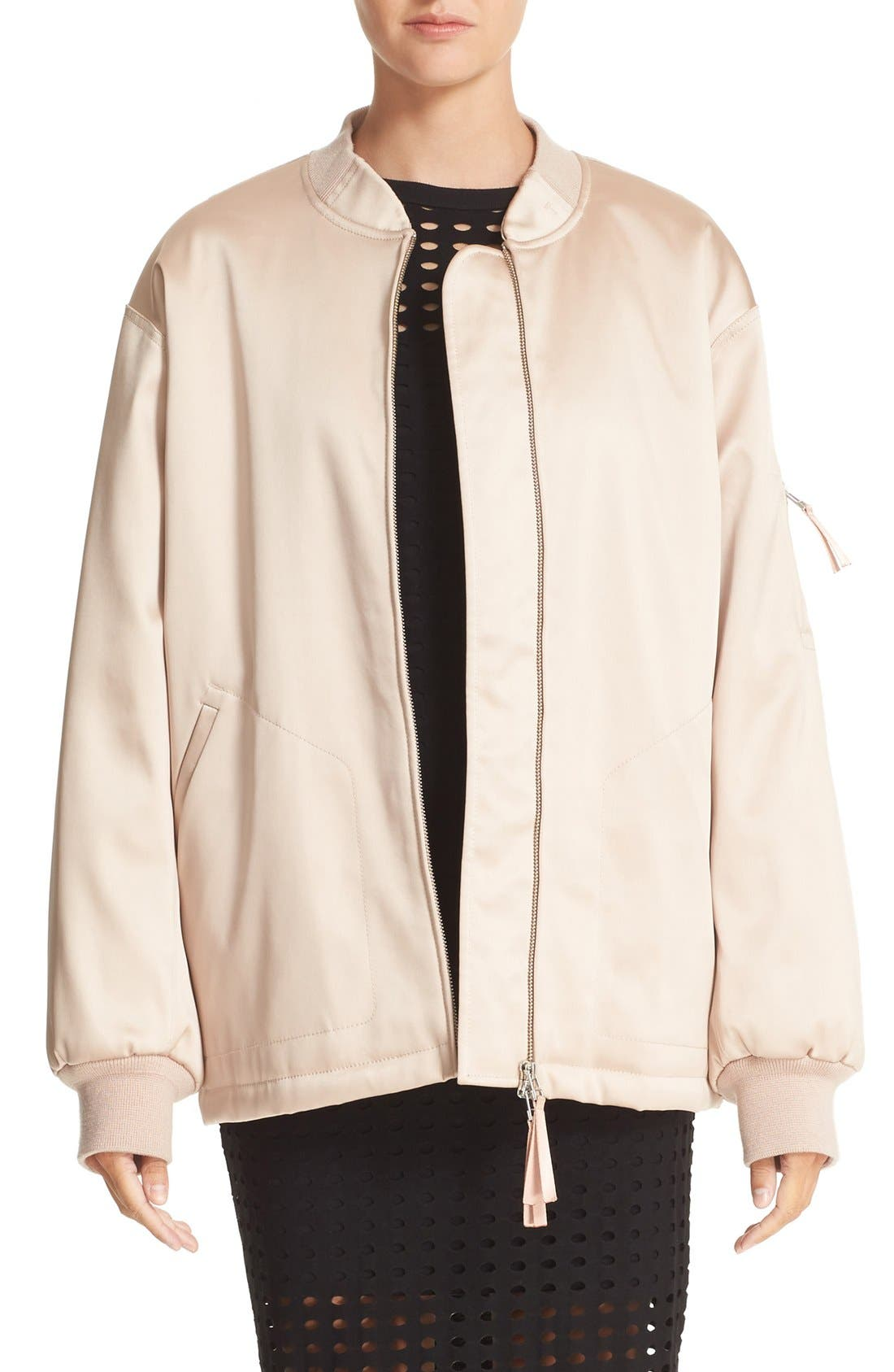 Alternate Image 1 Selected - T by Alexander Wang Satin Bomber