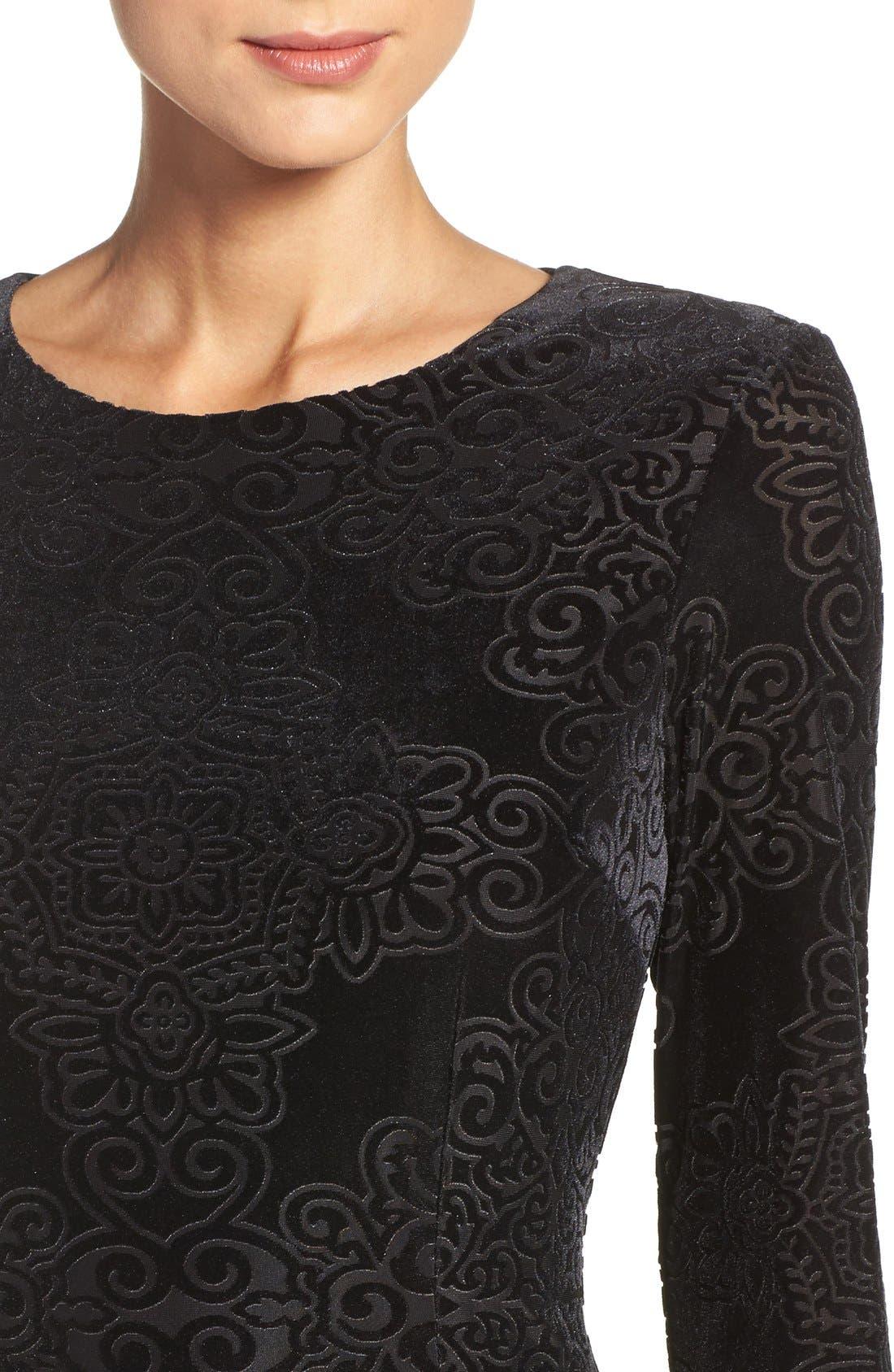 Alternate Image 5  - Maggy London Burnout Velvet Sheath Dress (Regular & Petite)