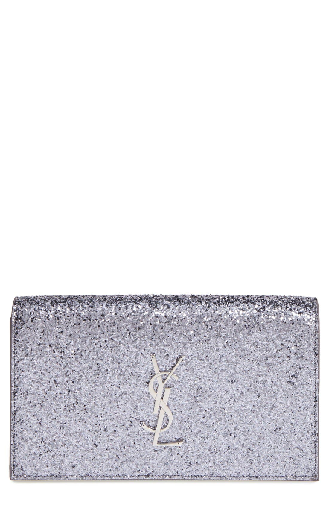 Alternate Image 1 Selected - Saint Laurent 'Monogram Kate' Glitter Clutch