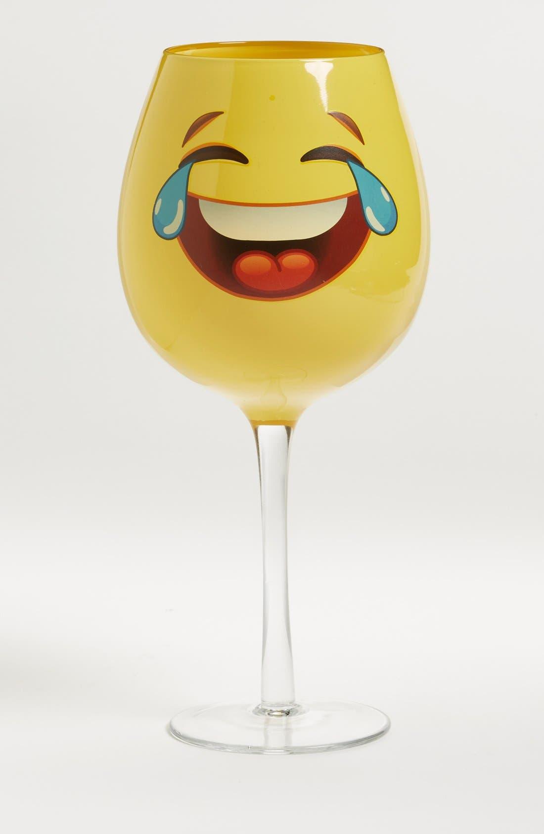 Main Image - DCI 'Emoji' Oversized Wine Glass
