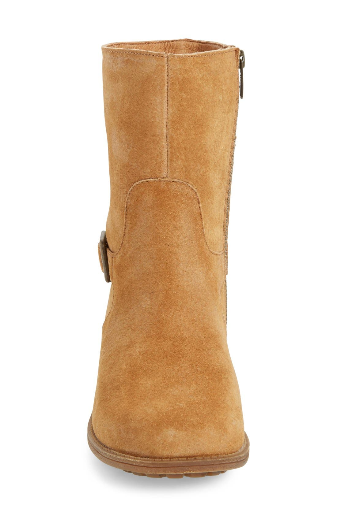 Alternate Image 3  - UGG® Keppler Genuine Shearling Lined Moto Boot (Women)
