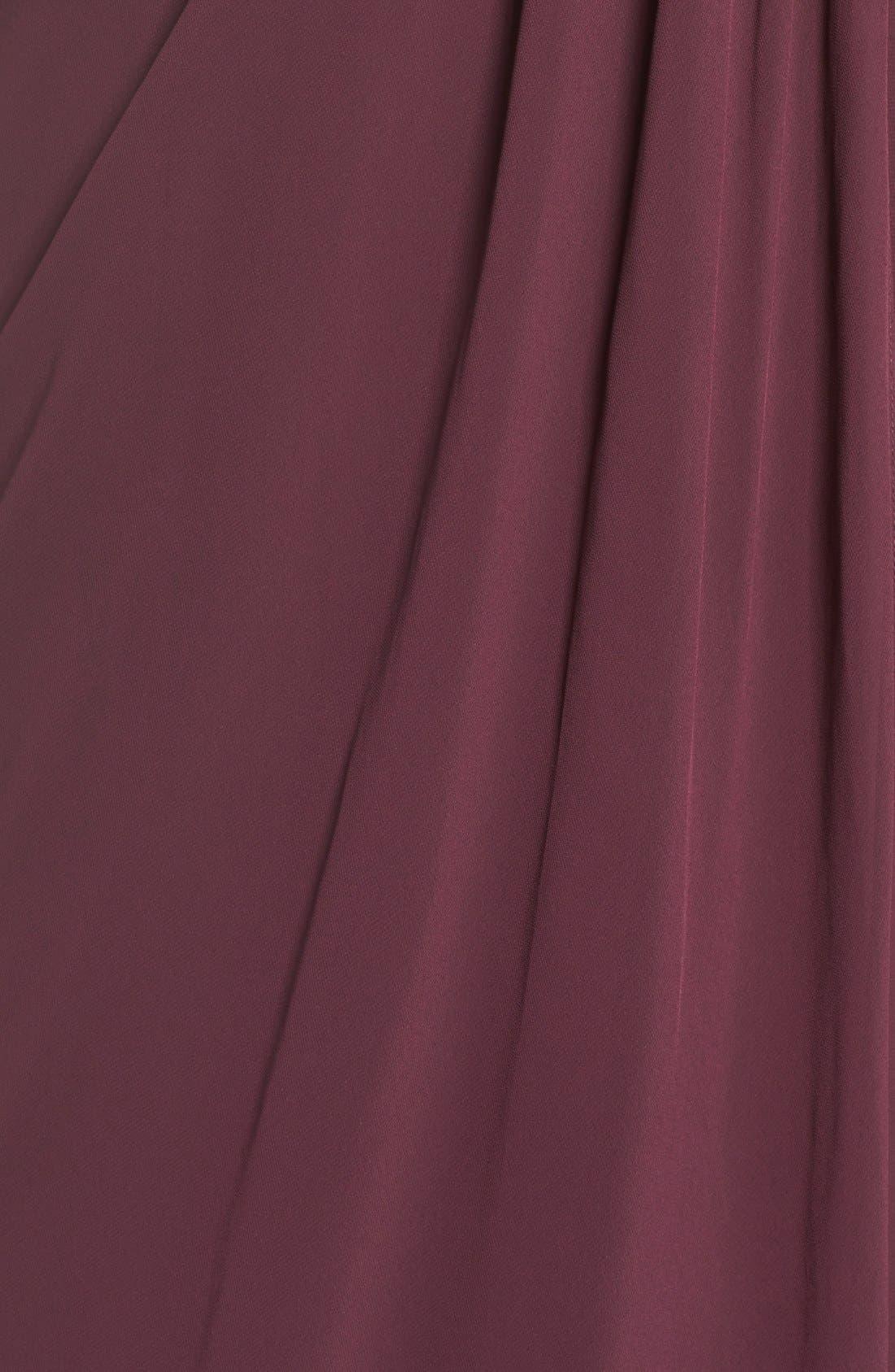 Alternate Image 5  - Jenny Yoo 'Raquel' Front Slit Strapless Chiffon Gown