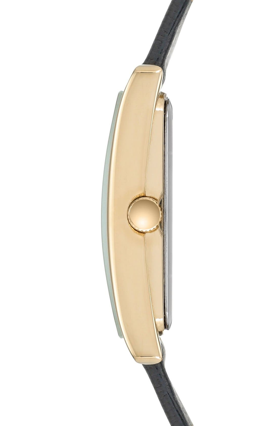Alternate Image 3  - Anne Klein Rectangular Leather Strap Watch, 28mm x 35mm