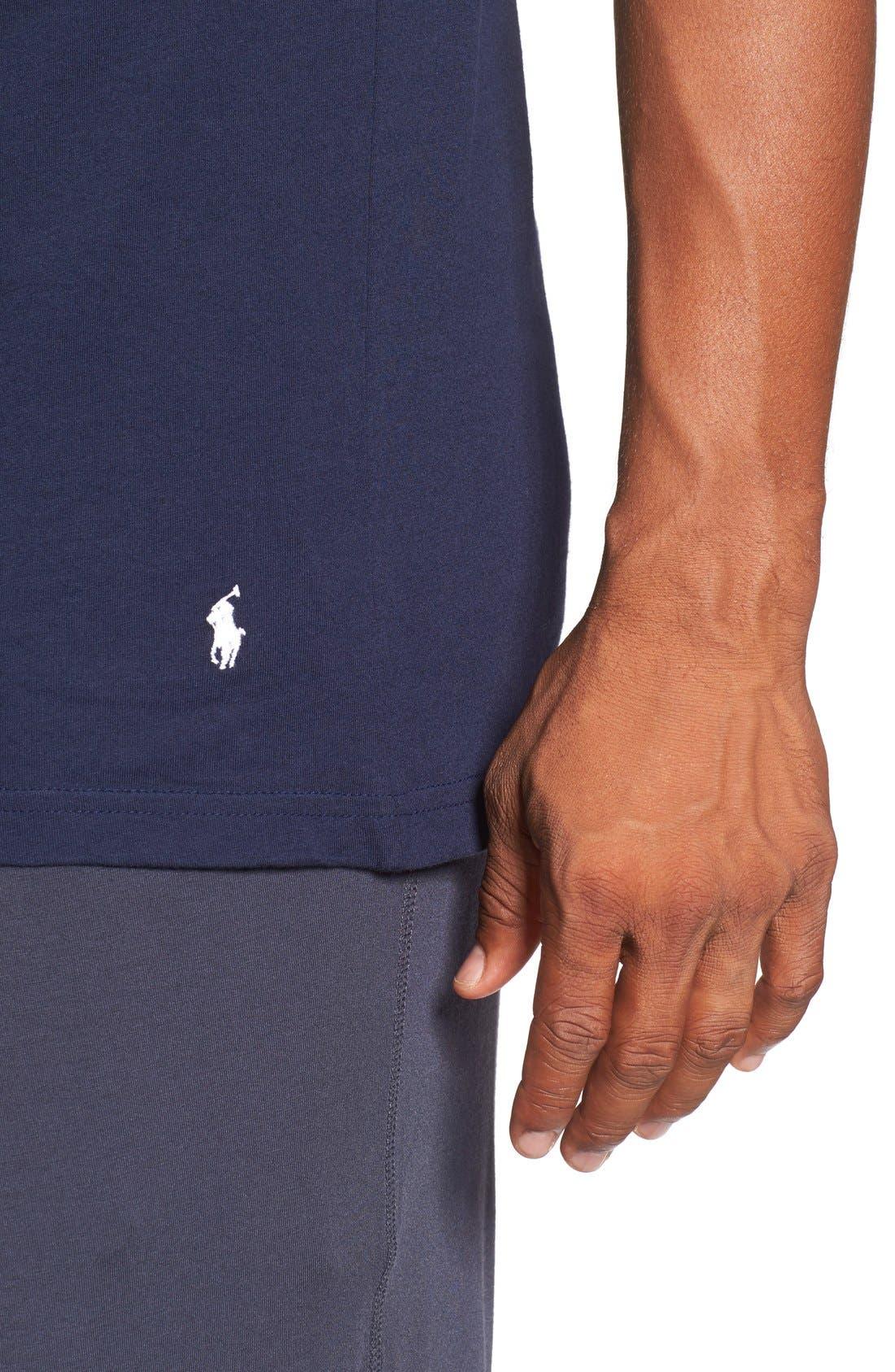 Alternate Image 5  - Polo Ralph Lauren 3-Pack Trim Fit T-Shirt