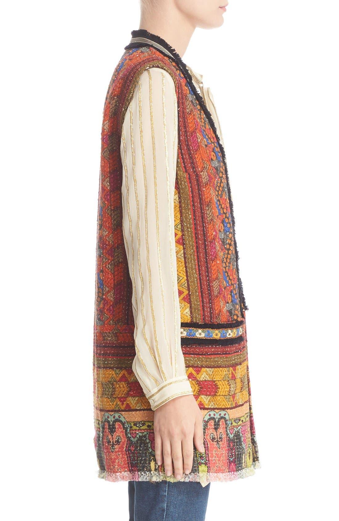 Alternate Image 5  - Etro Ribbon Print Cotton Blend Vest