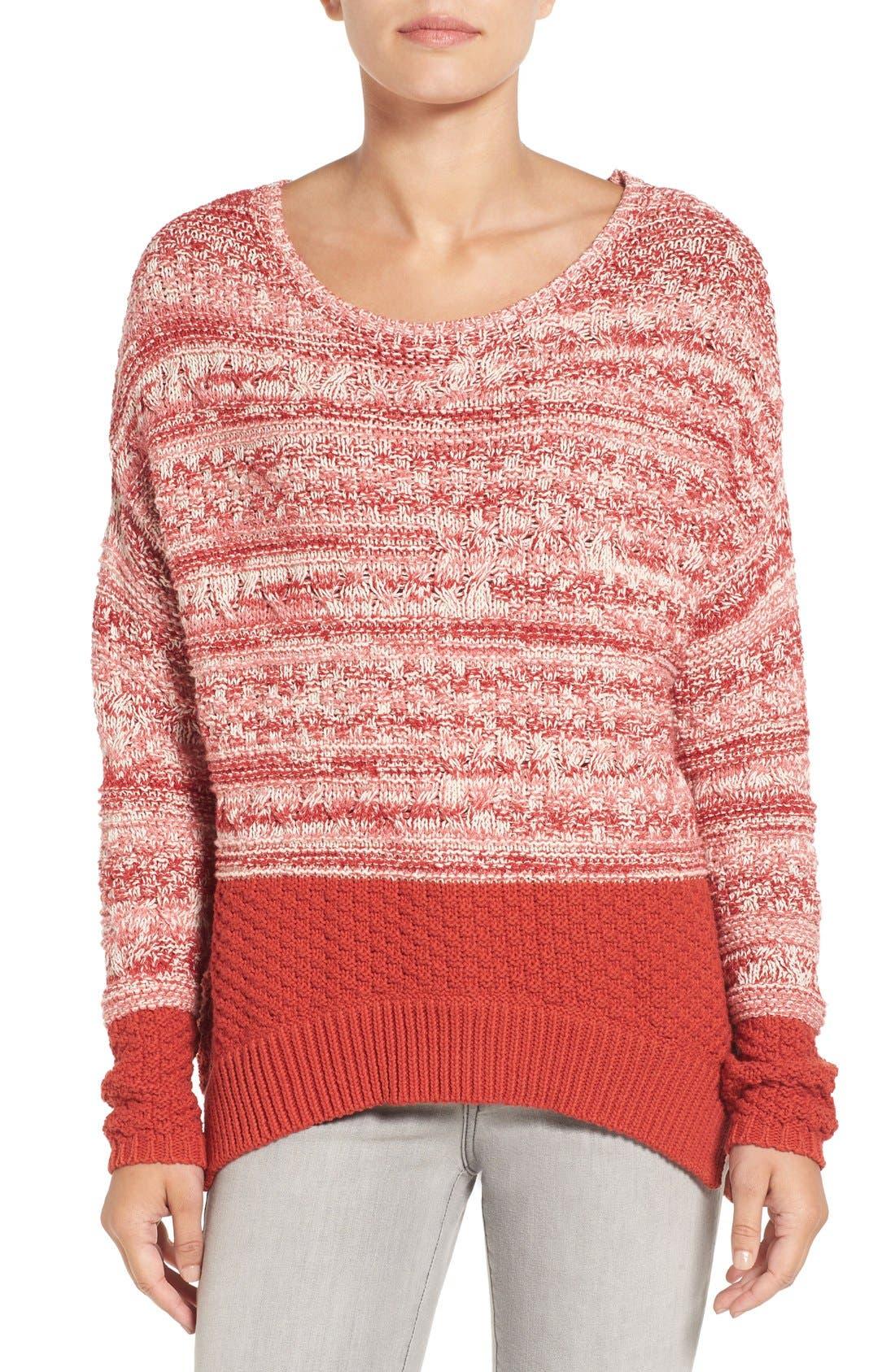Main Image - Caslon® Colorblock Marl Knit Sweater