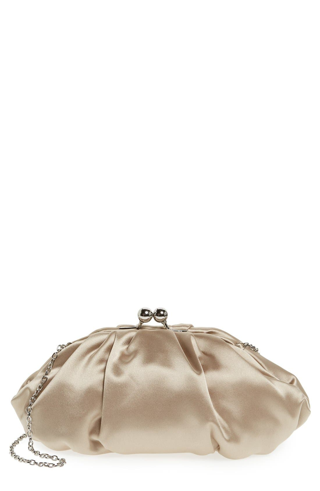 Alternate Image 1 Selected - Menbur Gathered Satin Clutch