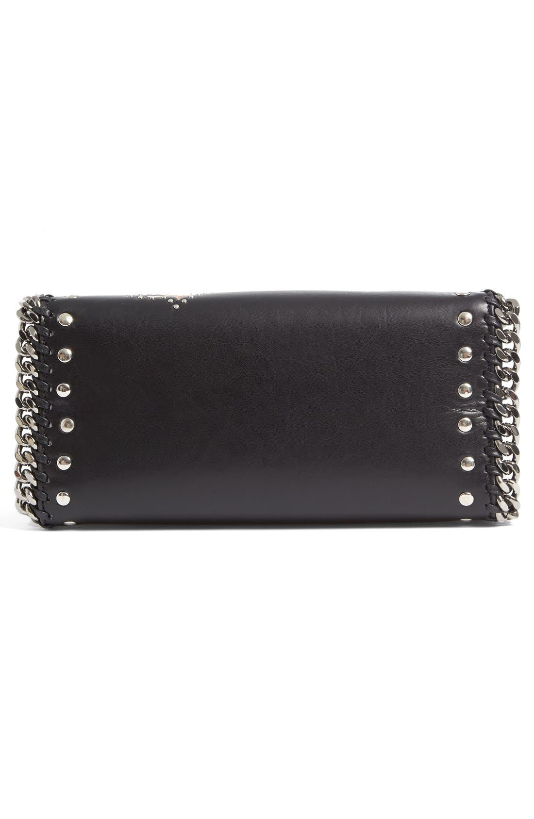 Alternate Image 5  - Stella McCartney Mini Falabella Embroidered Faux Leather Tote