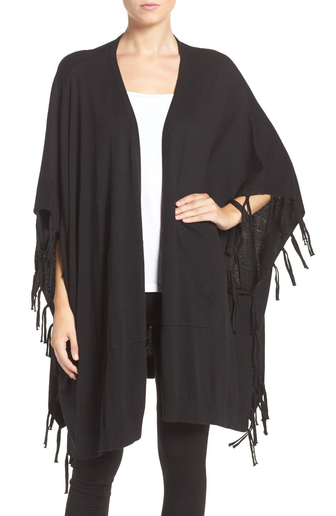 Main Image - DKNY Fringe Sweater Wrap