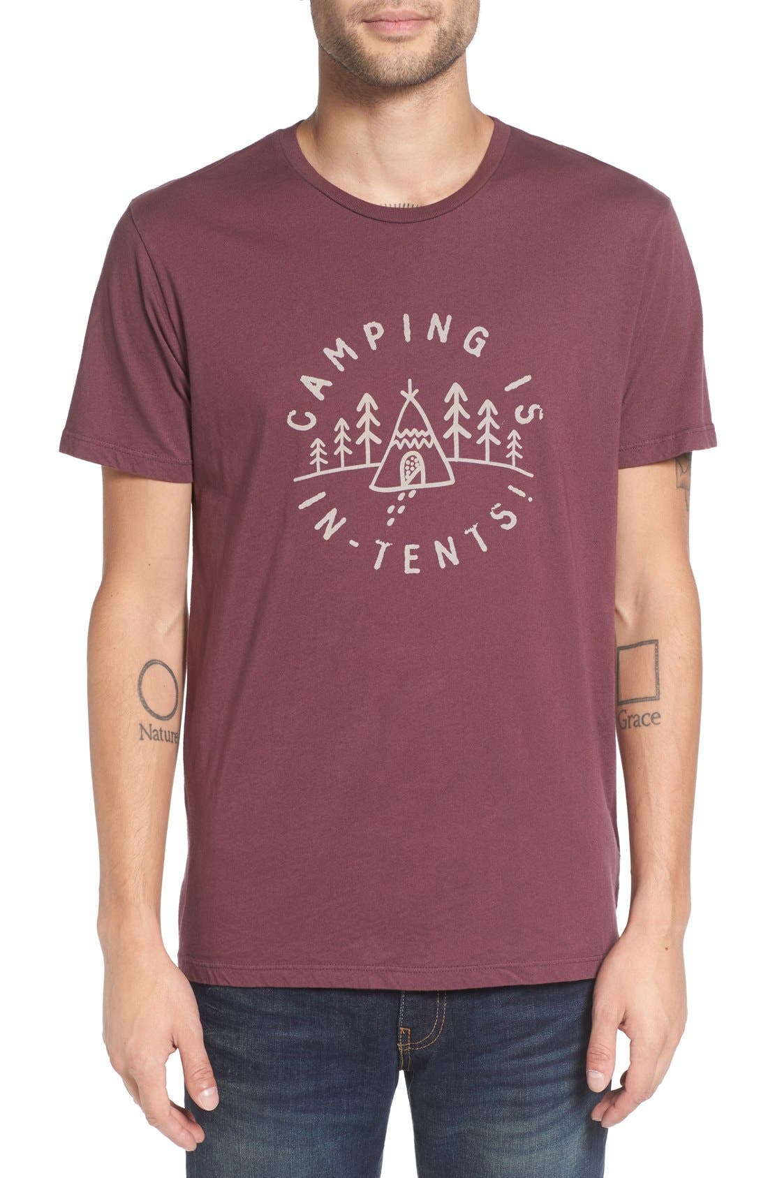 Altru 'Camping is In-Tents' Graphic T-Shirt