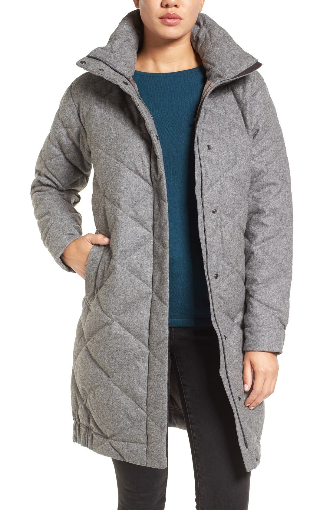 Alternate Image 1 Selected - Nau Wool Blend Quilted Down Coat