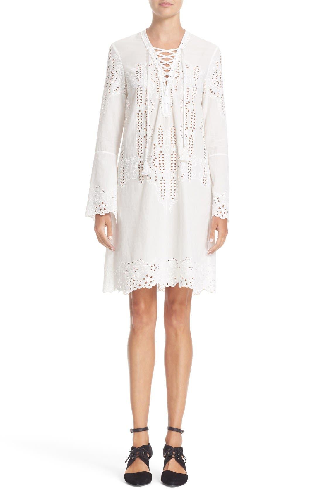 YIGAL AZROUËL Eyelet Embroidered Cotton Dress
