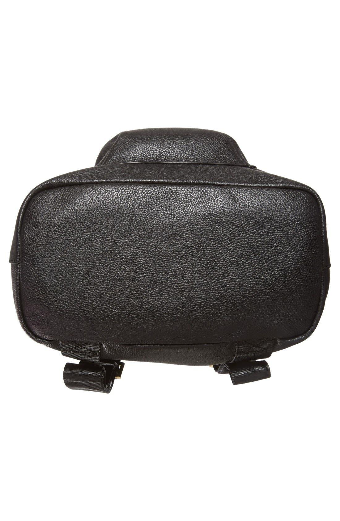 Alternate Image 5  - Elizabeth and James 'Langley' Leather & Genuine Sheep Fur Backpack